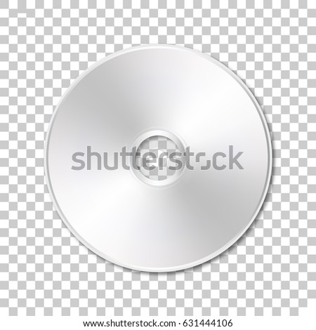 Isolated cd disk on transparent background.  Vector illustration.