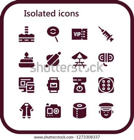 isolated icon set 16 filled