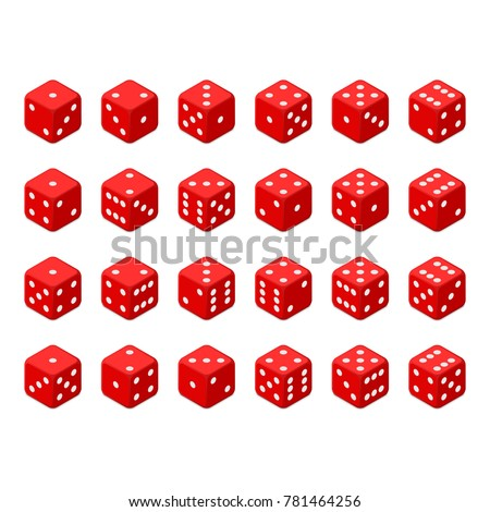24 isometric dice twenty four