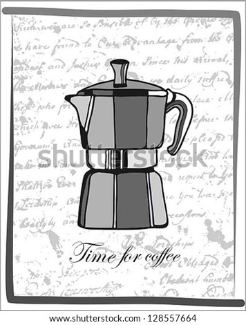 Italian Coffee Maker Vector : Italian Coffee Makers Stock Vector Illustration 128557664 : Shutterstock