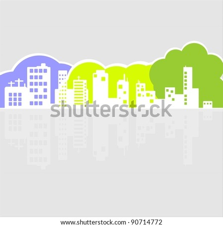 ?ity - stock vector