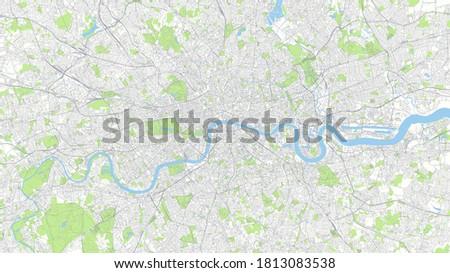 Сity map London, color detailed urban road plan, vector illustration Сток-фото ©
