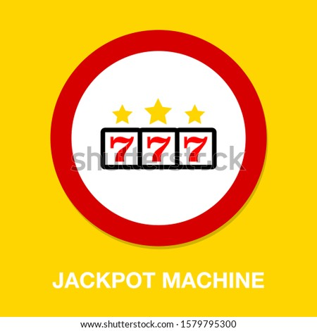 777 jackpot icon  vector casino