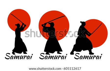 3 japanese samurai warriors