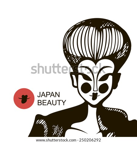 japanese woman in black and