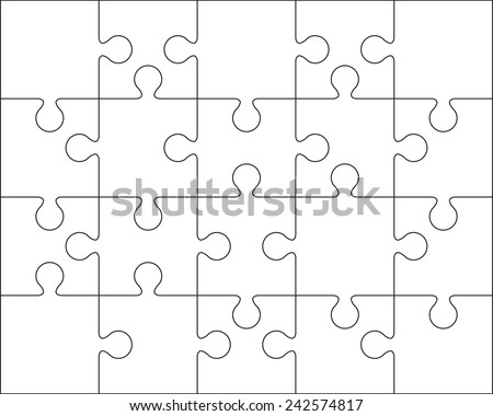 20 Jigsaw Puzzle Blank Template Or Cutting Guidelines 45 Ratio