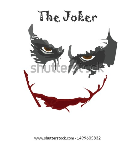 joker face with white bacground