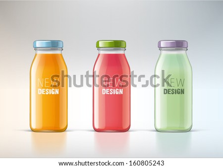 juice in a glass bottle for