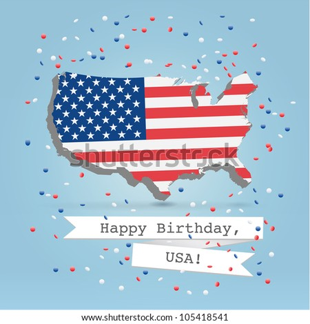 4 july celebration greeting card