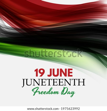 19 June African American Emancipation Day. Juneteenth Freedom Day. 19 June African American Emancipation Day holiday background. Vector illustration. EPS10
