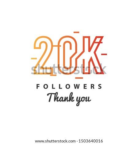 20k Followers thank you design