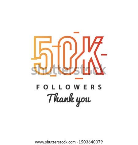 50k Followers thank you design