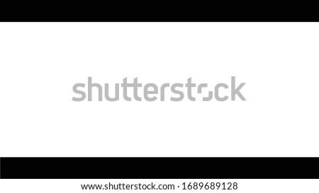 4K Letterbox 16:9 to 2.35:1 / Cinemascope / Anamorphic / Panavision Aspect Ratio Stock photo ©