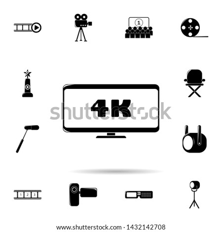 4k sign in monitor icon. Universal set of cinema and teatr for website design and development, app development Zdjęcia stock ©