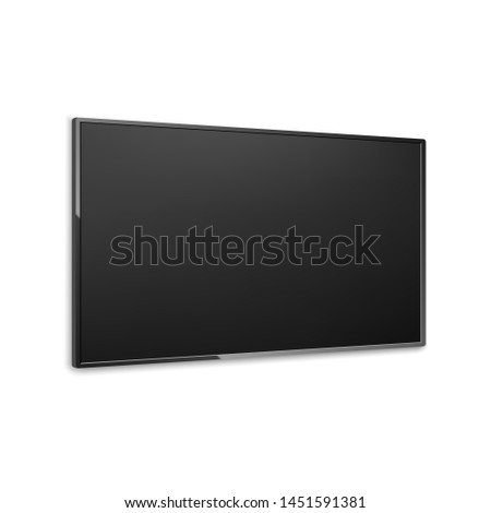 4k tv screen isometric vector. LCD or LED tv screen