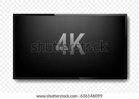4k tv screen vector design. Digital wide television concept. Vector illustration