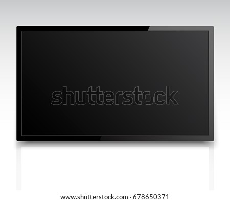 4k tv screen vector. LCD or LED tv screen