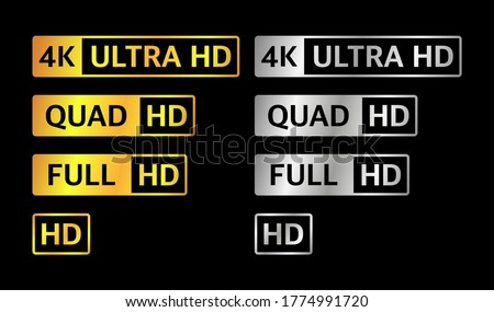 4k uhd  quad hd  full hd and hd