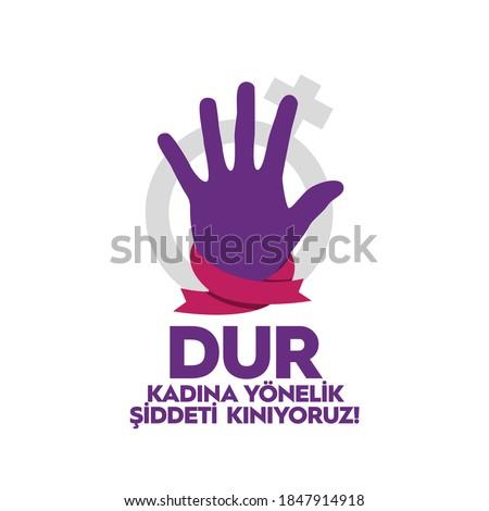 'Kadına yönelik şiddete karşı mücadele ve uluslararası dayanışma günü':'International Day for the Elimination of Violence Against Women'. 25 November. Foto stock ©