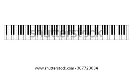 88 keys of piano