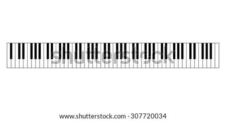 88 keys of piano