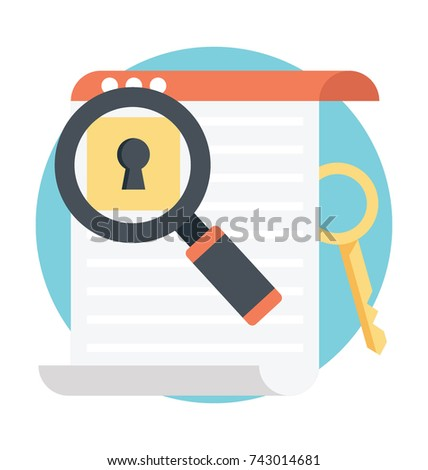 Keyword research flat icon