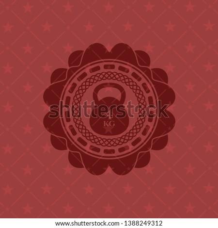 4kg kettlebell icon inside red emblem