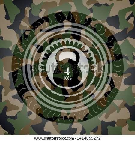 4kg kettlebell icon on camo pattern