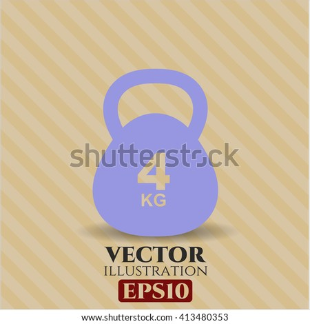 4Kg Kettlebell icon or symbol