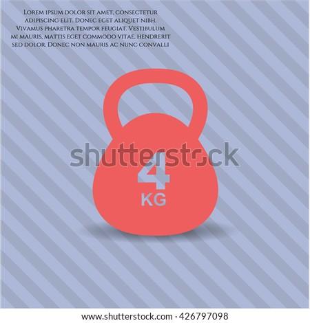 4kg kettlebell icon vector symbol flat eps jpg app