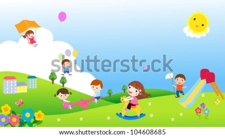 kids time - stock vector