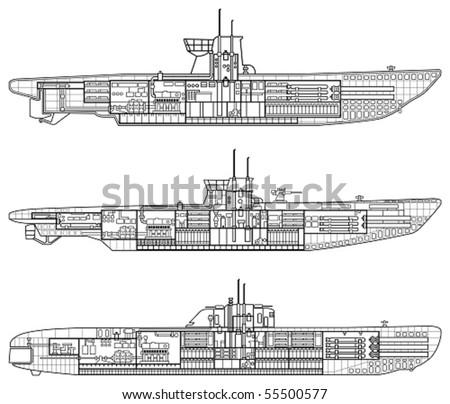 3 kinds of German u-type submarine