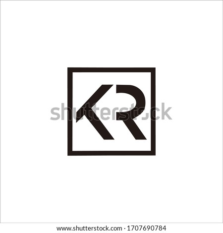 'kr' logo design This design is suitable for your company name and brand Stock fotó ©