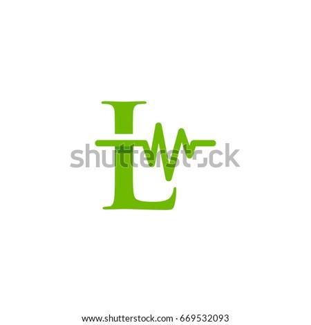 L initial Music Logo, L initial Medical Logo template designs Stock fotó ©