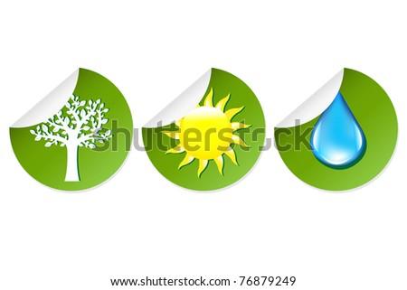 3 labels of elements nature