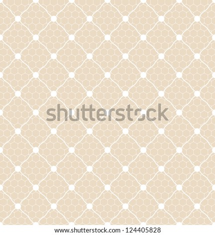 lace dotted bridal white veil seamless pattern on net background