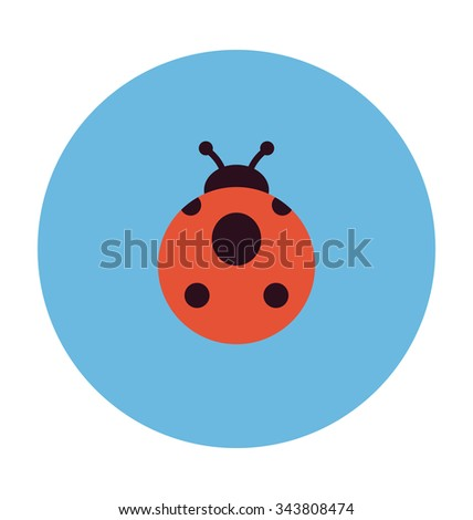 ladybird colored vector