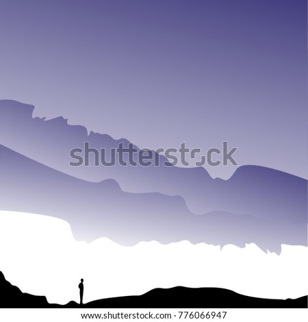 landscape the silhouette on