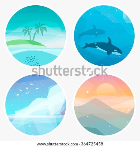 4 landscape vector