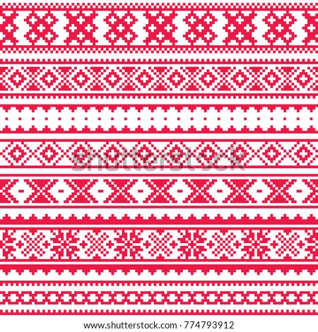 lapland traditional red folk