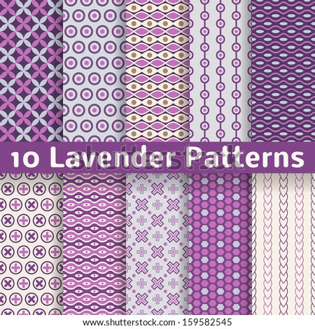 10 lavender different vector