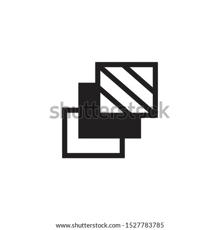 3 layer icon, stack level, different type of texture, material, layers, structure concept, Stock Vector illustration isolated on white background.