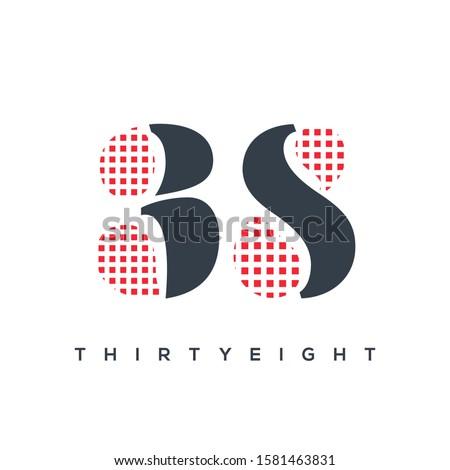 38 letter check design logo