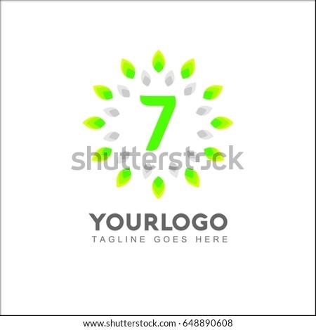 7 letter circle leaf logo