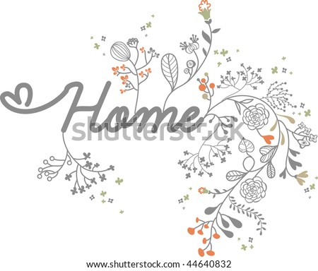 letter home with floral design