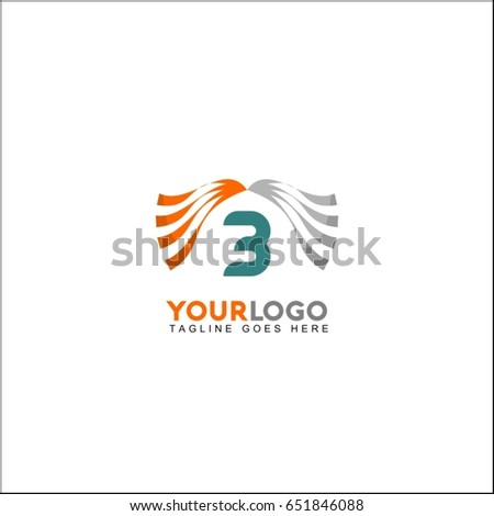 3 letter line clinic logo with dynamic elements. Wave concept vector design.
