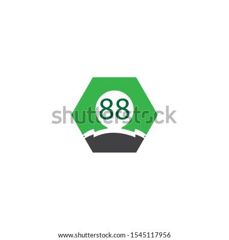 88 letter logo vector design template