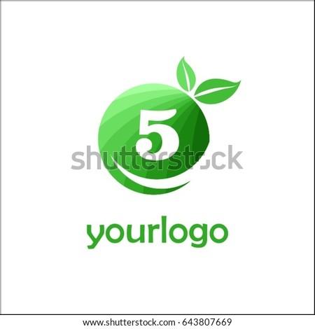 5 letter organic market logo