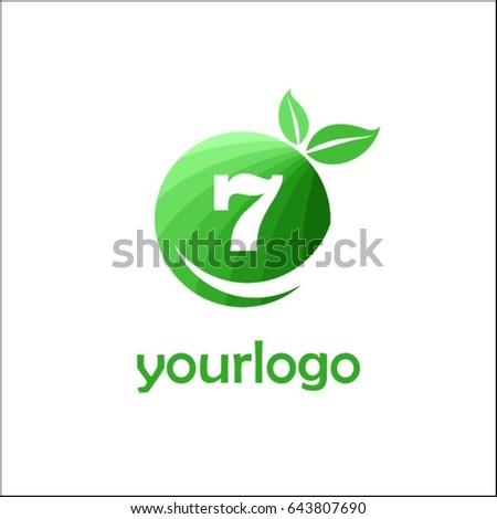 7 letter organic market logo