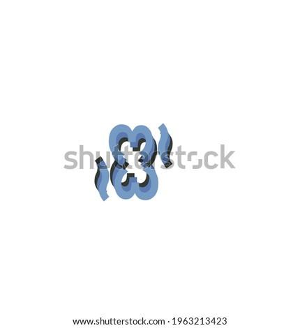 33 letter vector logo design